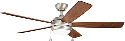 Kichler 330180NI Starkk LED Brushed Nickel 60 Ceiling Fan With Light 0