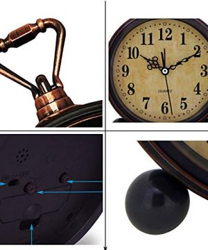 Konigswerk Vintage Alarm Clock Analog Table Desk Clock Battery Operated For Living Room Decor Shelf Classic 0 1 300x360