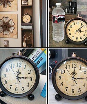 Konigswerk Vintage Alarm Clock Analog Table Desk Clock Battery Operated For Living Room Decor Shelf Classic 0 4 300x360