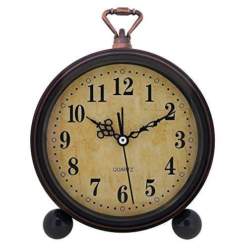 Konigswerk Vintage Alarm Clock Analog Table Desk Clock Battery Operated For Living Room Decor Shelf Classic 0