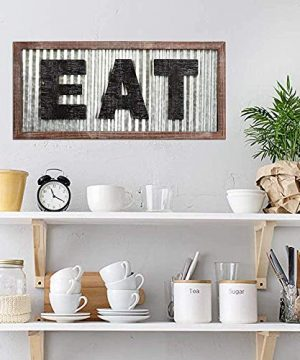 Large EAT Wood Wall Art Sign For Kitchen Wall DecorWood Framed Kitchen SignKitchen ArtRustic Vintage Farmhouse Country Decoration For Kitchen Wall Counter Door And Pantry275 X 125 0 0 300x360
