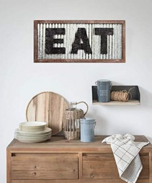 Large EAT Wood Wall Art Sign For Kitchen Wall DecorWood Framed Kitchen SignKitchen ArtRustic Vintage Farmhouse Country Decoration For Kitchen Wall Counter Door And Pantry275 X 125 0 1 300x360