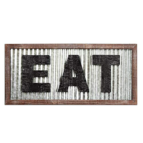 Large EAT Wood Wall Art Sign For Kitchen Wall DecorWood Framed Kitchen SignKitchen ArtRustic Vintage Farmhouse Country Decoration For Kitchen Wall Counter Door And Pantry275 X 125 0