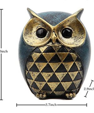 Leekung Owl Statue Home DecorOwl Figurines For Bookshelf Bedroom Living Room Office TV Stand DecorationsOwl Decor Animal Sculptures Gift For Birds Lovers 0 0 300x360