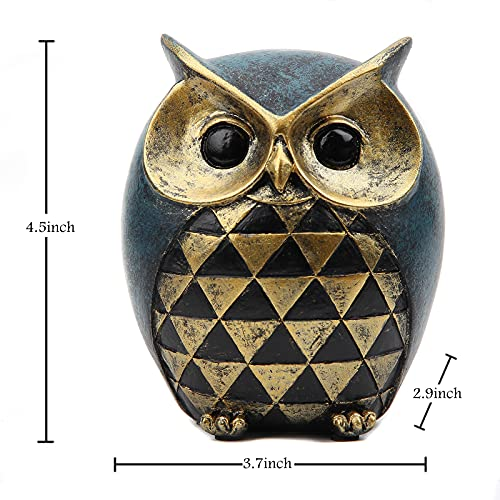 Leekung Owl Statue Home DecorOwl Figurines For Bookshelf Bedroom Living Room Office TV Stand DecorationsOwl Decor Animal Sculptures Gift For Birds Lovers 0 0