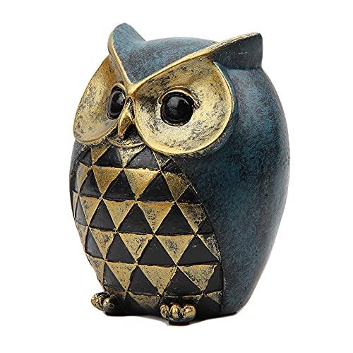 Leekung Owl Statue Home DecorOwl Figurines For Bookshelf Bedroom Living Room Office TV Stand DecorationsOwl Decor Animal Sculptures Gift For Birds Lovers 0 1