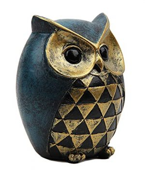 Leekung Owl Statue Home DecorOwl Figurines For Bookshelf Bedroom Living Room Office TV Stand DecorationsOwl Decor Animal Sculptures Gift For Birds Lovers 0 2 300x360