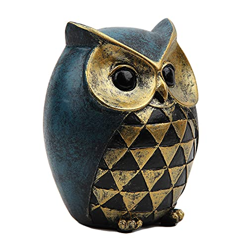 Leekung Owl Statue Home DecorOwl Figurines For Bookshelf Bedroom Living Room Office TV Stand DecorationsOwl Decor Animal Sculptures Gift For Birds Lovers 0 2