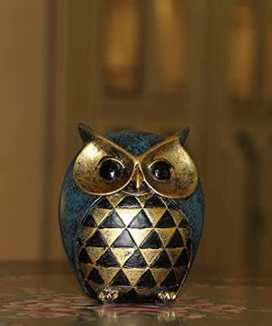 Leekung Owl Statue Home DecorOwl Figurines For Bookshelf Bedroom Living Room Office TV Stand DecorationsOwl Decor Animal Sculptures Gift For Birds Lovers 0 5 300x360