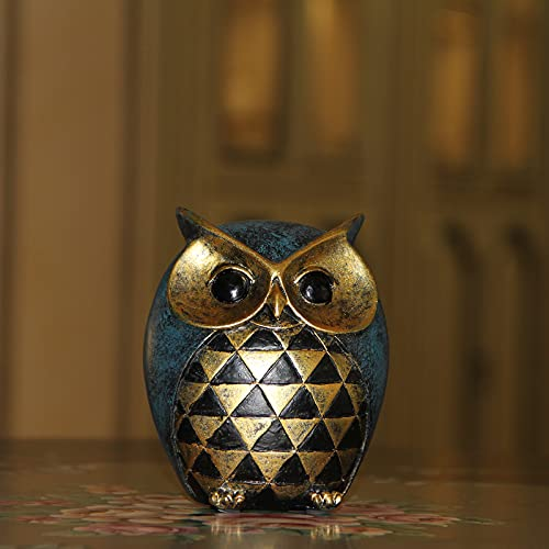 Leekung Owl Statue Home DecorOwl Figurines For Bookshelf Bedroom Living Room Office TV Stand DecorationsOwl Decor Animal Sculptures Gift For Birds Lovers 0 5