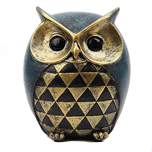 Leekung Owl Statue Home DecorOwl Figurines For Bookshelf Bedroom Living Room Office TV Stand DecorationsOwl Decor Animal Sculptures Gift For Birds Lovers 0