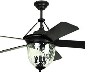 Litex E KM52ABZ5CMR Knightsbridge Collection 52 Ceiling Fan Aged Bronze Finish With Special Aged Bronze ABS Blades 0 300x260