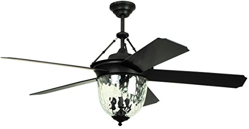 Litex E KM52ABZ5CMR Knightsbridge Collection 52 Ceiling Fan Aged Bronze Finish With Special Aged Bronze ABS Blades 0