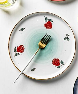MDZF SWEET HOME 10 Inch Porcelain Dinner Plates Set Pizza Pasta Serving Dishes Tableware Dessert Dishes Set Of 4 0 1 300x360