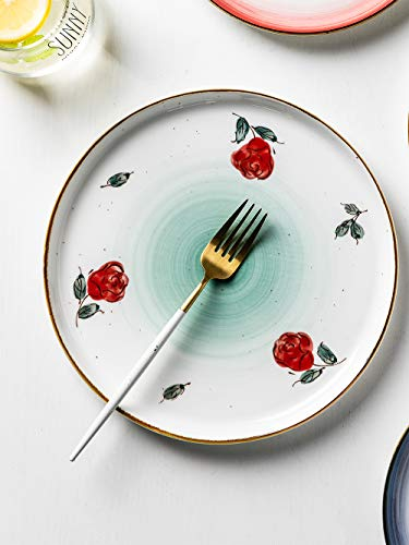 MDZF SWEET HOME 10 Inch Porcelain Dinner Plates Set Pizza Pasta Serving Dishes Tableware Dessert Dishes Set Of 4 0 1