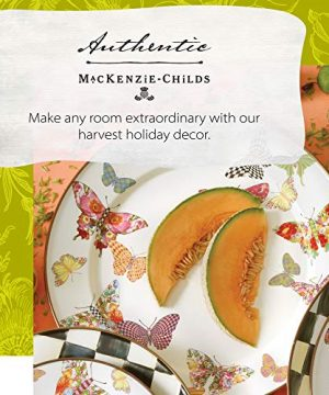 MacKenzie Childs Butterfly Garden Single Dinner Plate 10 Inch Housewarming Presents For New Home White 0 0 300x360