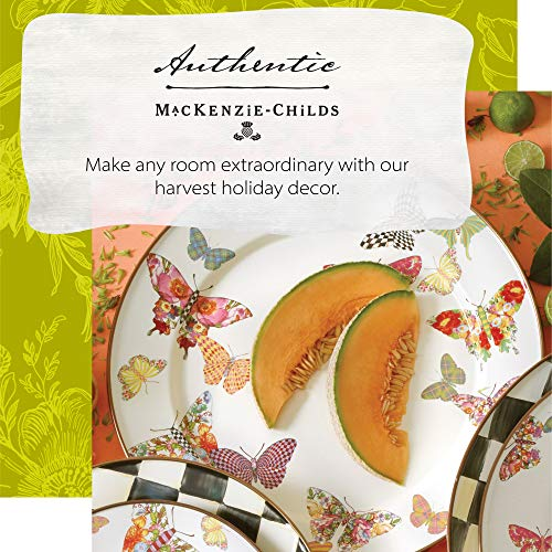 MacKenzie Childs Butterfly Garden Single Dinner Plate 10 Inch Housewarming Presents For New Home White 0 0