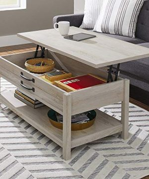 Modern And Unique Style Wood Coffee Table Functionality Farmhouse Lift Top Hidden Storage Rustic White Finish 0 0 300x360