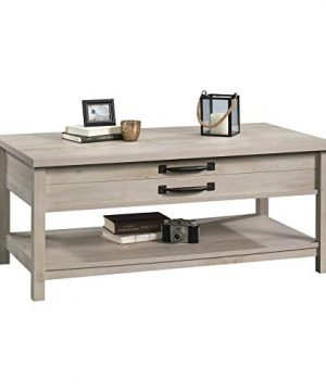 Modern And Unique Style Wood Coffee Table Functionality Farmhouse Lift Top Hidden Storage Rustic White Finish 0 1 300x360