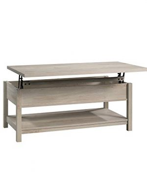 Modern And Unique Style Wood Coffee Table Functionality Farmhouse Lift Top Hidden Storage Rustic White Finish 0 2 300x360