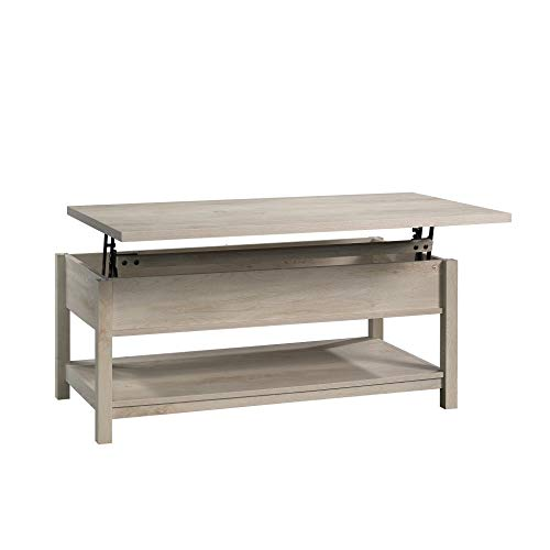 Modern And Unique Style Wood Coffee Table Functionality Farmhouse Lift Top Hidden Storage Rustic White Finish 0 2