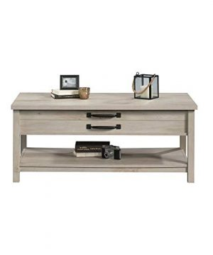 Modern And Unique Style Wood Coffee Table Functionality Farmhouse Lift Top Hidden Storage Rustic White Finish 0 4 300x360