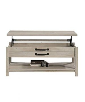 Modern And Unique Style Wood Coffee Table Functionality Farmhouse Lift Top Hidden Storage Rustic White Finish 0 5 300x360