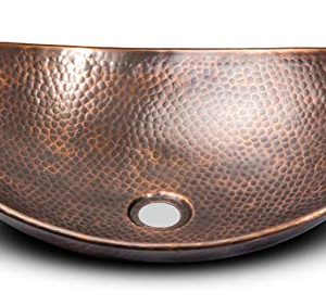 Monarch Abode 17086 Pure Copper Hand Hammered Harbor Vessel Sink 0 300x281