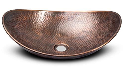 Monarch Abode 17086 Pure Copper Hand Hammered Harbor Vessel Sink 0