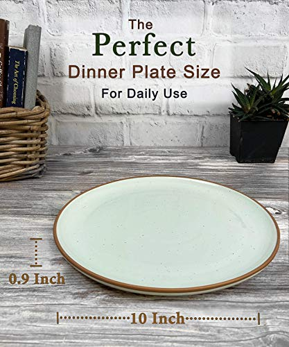 Mora Ceramic Dinner Plates Set Of 6 10 Inch Dish Set Microwave Oven And Dishwasher Safe Scratch Resistant Modern Rustic Dinnerware Kitchen Porcelain Serving Dishes Assorted Colors 0 0