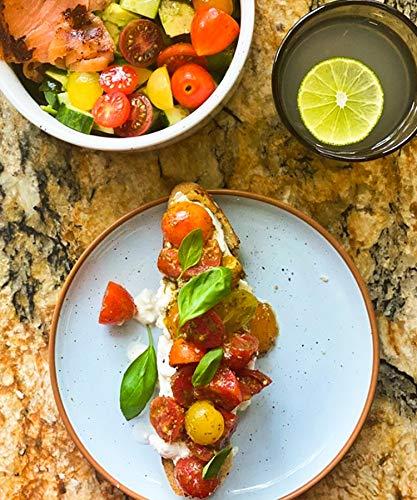 Mora Ceramic Dinner Plates Set Of 6 10 Inch Dish Set Microwave Oven And Dishwasher Safe Scratch Resistant Modern Rustic Dinnerware Kitchen Porcelain Serving Dishes Assorted Colors 0 4