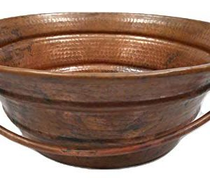 Natural Fired 15 Round Copper Vessel BUCKET Bath Sink By SimplyCopper 0 300x255