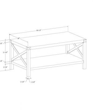 New 40 Inch Metal X Frame Coffee Table With White Oak Finish 0 4 300x360