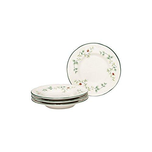 Pfaltzgraff Winterberry Appetizer Plate Stoneware Set Of 4 Gift Box 6 Assorted 0