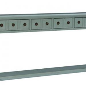Powell Furniture Sadie Long Console Table Teal 0 300x360