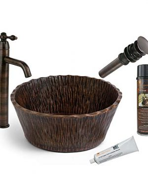 Premier Copper Products BSP1PVRTRDB 145 Inch Copper Vessel Sink Faucet And Accessories Package 0 300x360