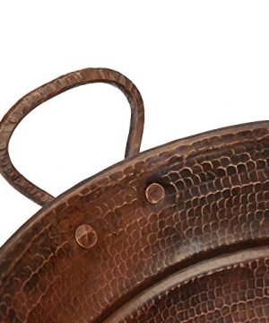 Premier Copper Products VOB16DB 19 Inch Oval Bucket Vessel Hammered Copper Sink With Handles 0 1 300x360