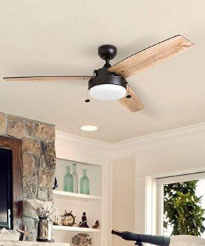 Prominence Home 51018 Statham Modern Farmhouse Ceiling Fan 52 Espresso 0 1 300x360