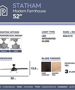 Prominence Home 51018 Statham Modern Farmhouse Ceiling Fan 52 Espresso 0 3 300x360