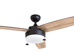 Prominence Home 51018 Statham Modern Farmhouse Ceiling Fan 52 Espresso 0 300x221