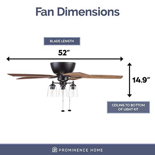 Prominence Home 51486 01 Arthur Ceiling Fan 52 Espresso 0 3
