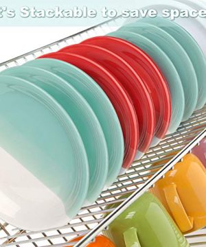 Reomore Dinner Plates 105 Inch Ceramic Plates Set With 6 Pieces Placemats For Dessert Pizza Pasta Set Of 6 Microwave And Dishwasher Safe Plates For Kitchen RedTurquoise 0 3 300x360