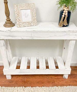 Rustic Barnwood Entry Sofa Table By Del Hutson Designs White 0 300x360