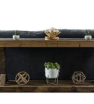 Rustic Console Accent Table Solid Wood Distressed Walnut Hall Entryway Narrow Table Farmhouse Sofa Table Display Shelf Side Table Foyer Living Room Bedroom Table Home Furniture EBook By BADA Shop 0 0 300x333