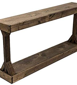 Rustic Console Accent Table Solid Wood Distressed Walnut Hall Entryway Narrow Table Farmhouse Sofa Table Display Shelf Side Table Foyer Living Room Bedroom Table Home Furniture EBook By BADA Shop 0 300x333