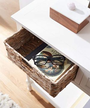 Safavieh Home Collection Christa Distressed White 3 Drawer Storage Console Table 0 1 300x360