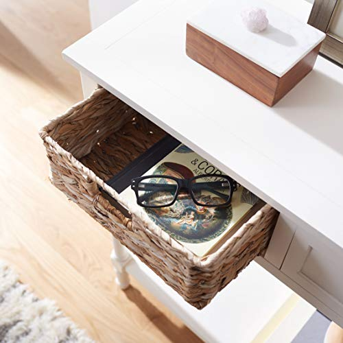 Safavieh Home Collection Christa Distressed White 3 Drawer Storage Console Table 0 1