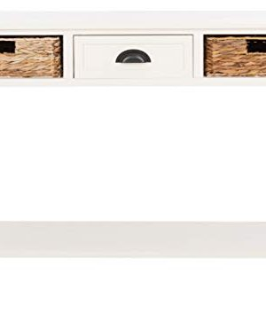 Safavieh Home Collection Christa Distressed White 3 Drawer Storage Console Table 0 2 300x354