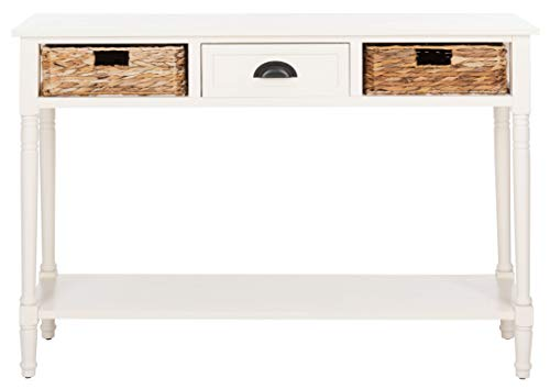 Safavieh Home Collection Christa Distressed White 3 Drawer Storage Console Table 0 2