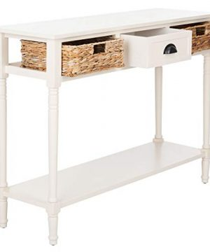 Safavieh Home Collection Christa Distressed White 3 Drawer Storage Console Table 0 3 300x360